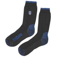 Calcetines de puntera de acero Blueguard sin embalar que muestran ambos lados del calcetín