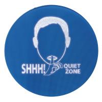 Señal de protección auditiva de zona tranquila activada por ruido.