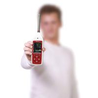 El medidor de decibelios Optimus proporciona lecturas precisas de nivel de ruido.