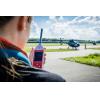 sencillo medidor de nivel de sonido del helicóptero cerca