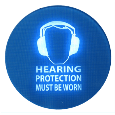 señales de advertencia de ruido