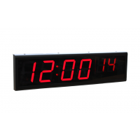 Relojes de señal de seis dígitos de potencia sobre la vista lateral del reloj de ethernet