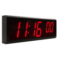 reloj de pared digital sincronizado lado izquierdo