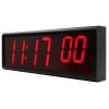 Inova sincronizado vista lateral reloj de pared digital desde la derecha