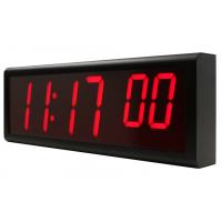 Un reloj de pared PoE NTP de seis dígitos