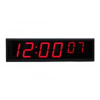 vista frontal de reloj NTP 6 dígitos