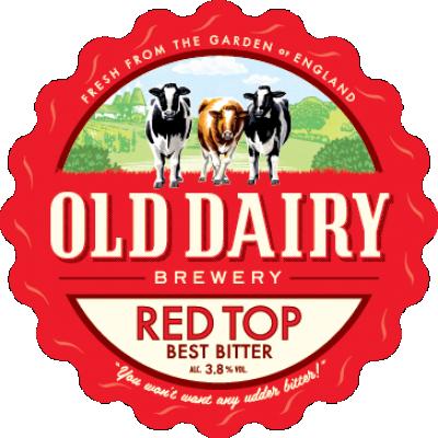 tapa roja por antigua fábrica de cerveza productos lácteos, británico mejor distribuidor amarga