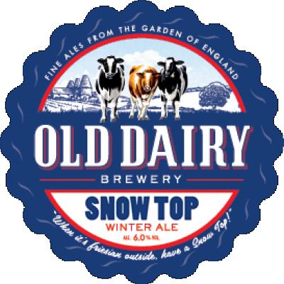 nieve por encima antigua vaquería, invierno británico distribuidor de cerveza