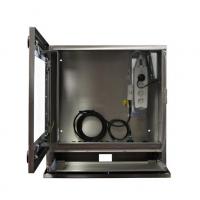 Vista de la Carcasa impermeable ordenador industrial con puerta abierta
