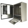 armario para ordenador resistente al agua vista lateral abierta