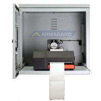 mueble para impresora de acero suave con la puerta delantera abierta
