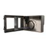 Carcasa impermeable monitor de la derecha vista abierta