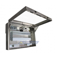 Carcasa impermeable LCD Vista de la unidad de la izquierda con la puerta abierta