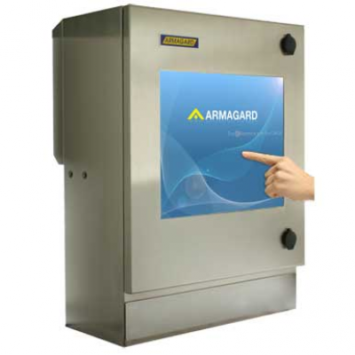 pantalla táctil compacta resistente al agua