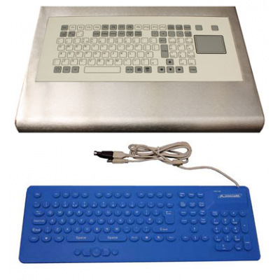opciones de teclado lavable INTERGRATED o de forma independiente