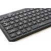 teclado iluminado de cerca húmeda