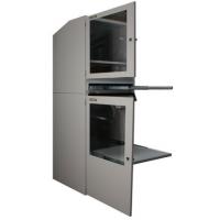 armoire informatique industrielle portes ouvertes vue de droite