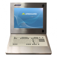 एकीकृत झिल्ली कीबोर्ड के साथ पनरोक औद्योगिक कंप्यूटर कार्य केंद्र