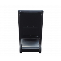 फ्रीस्टैंडिंग डिजिटल ए-फ्रेम साइनेज रियर व्यू।