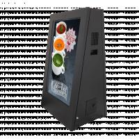 आउटडोर बैटरी चालित डिजिटल संकेत, बाएं ओर का दृश्य।