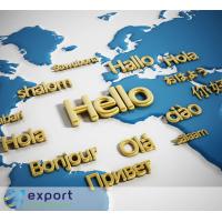 निर्यात दुनिया भर में व्यापार अनुवाद सेवाएं प्रदान करता है