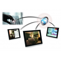 Solusi perangkat lunak signage digital berbasis cloud Airgoo.