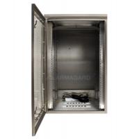Waterproof rack mount lemari menunjukkan terbuka di dalam unit