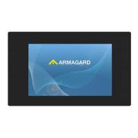 Layar iklan LCD dari tampilan depan Armagard