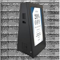 Signage digital bertenaga baterai Tampilan samping yang menghadap ke kanan.