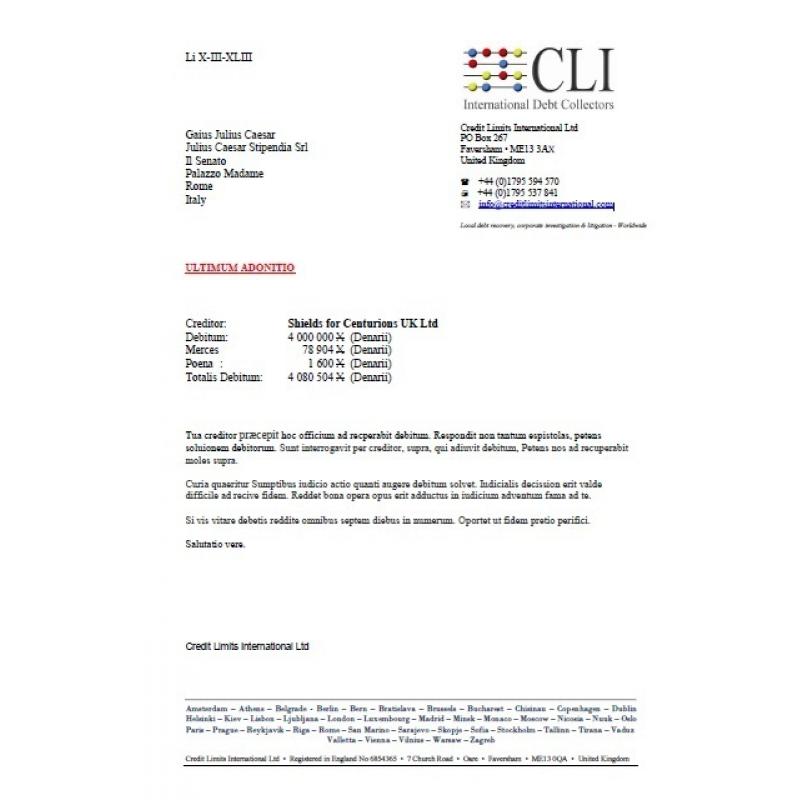 Batas Kredit Utang Koleksi Surat Internasional Credit