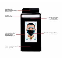 Un elenco del termometro a infrarossi con le funzioni di riconoscimento facciale.