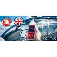 Il misuratore del suono Optimus in uso in un aeroporto.