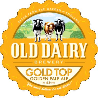 top oro da parte di vecchia fabbrica di birra prodotti lattiero-caseari, britannico distributore pale ale