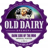 lato oscuro della moo dalla vecchia fabbrica di birra prodotti lattiero-caseari, britannico distributore portiere