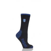 黒と青のBlueguard作業靴下