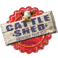 古い酪農醸造所、ブリティッシュ・アメリカン・ペールエールの販売代理店によって小屋の牛
