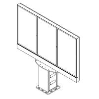 ドライブスルーでの高輝度プロモーション用のマルチスクリーン屋外デジタルメニュー。