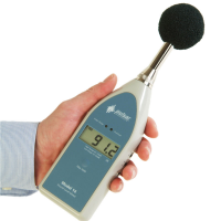 고정밀 사운드 측정을위한 디지털 노이즈 미터.
