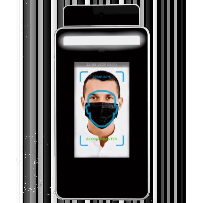 Cirrus Research의 얼굴 인식 기능이있는 적외선 온도계.