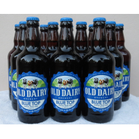 파란색 위쪽 IPA. 병 공예 맥주를 생산하는 영어 양조장