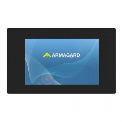 Armagard 전면보기에서 LCD 광고 디스플레이