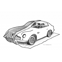 Garaj kereta sementara untuk kereta mewah dan penyimpanan jangka panjang.