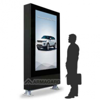 papan tanda digital yang boleh dibaca cahaya dari Armagard