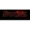 keyboard lasak menunjukkan lampu belakang merah kunci