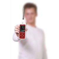 De Optimus decibelmeter levert nauwkeurige metingen van het geluidsniveau.