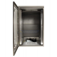 Waterdichte rack mount kast open tonende binnenkant van de eenheid