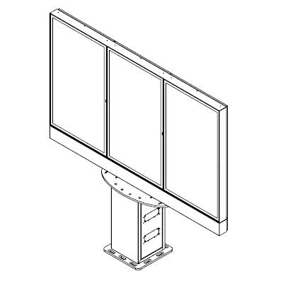digitaal menu met meerdere schermen buiten van Armagard
