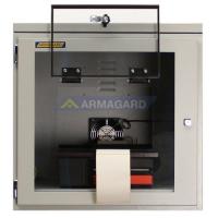 zacht staal printer behuizing vooraanzicht met klep geopend