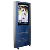 Digital signage advertising van Armagard
