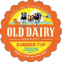 sommer topp med gamle meieri bryggeriet, britiske sommer ale distributør